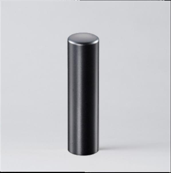 法人実印 ブラックブラストチタン18.0mm寸胴