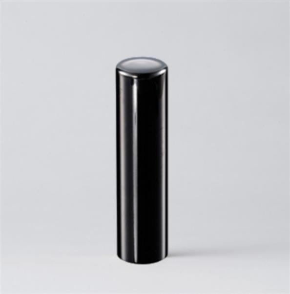 法人実印 ブラックミラーチタン18.0mm寸胴