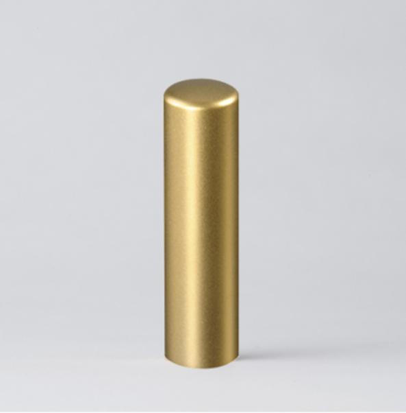 法人実印 ゴールドブラストチタン18.0mm寸胴