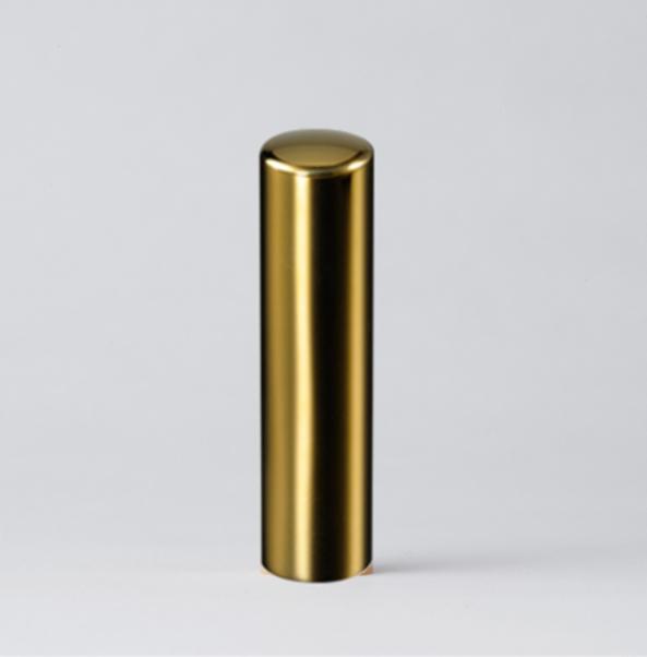 法人実印 ゴールドミラーチタン18.0mm寸胴