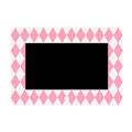 7インチデザインデジタルフォトフレーム【アーガイル ローズピンクxパールホワイト】