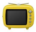 GHV-DF35TVY (3.5インチ TV型 デジタルフォトフレーム イエロー)