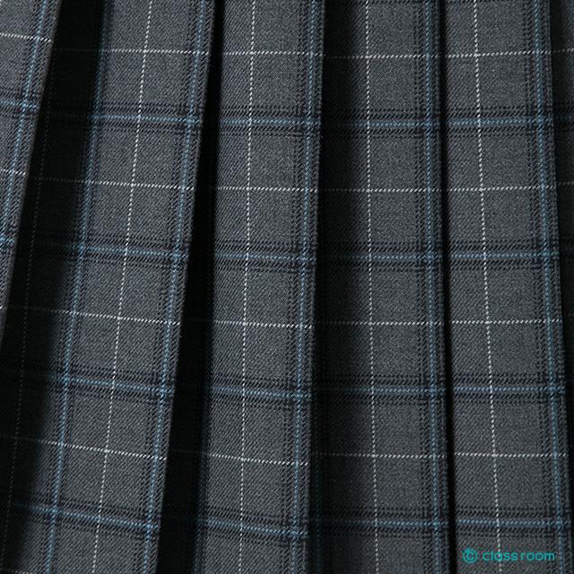★送料無料★スクールスカート[グレー系チェック柄]学生服制服女子高生国内工場製造classroomオリジナルプリーツスカート
