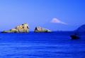 送料無料・特選クリスタル富士山写真&高級アルミ額縁セット-B002