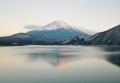 送料無料・特選クリスタル富士山写真&高級アルミ額縁セット-B005