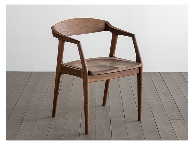 ユナ アームチェア ウッド SIKI FURNITURE シキファニチア/椅子