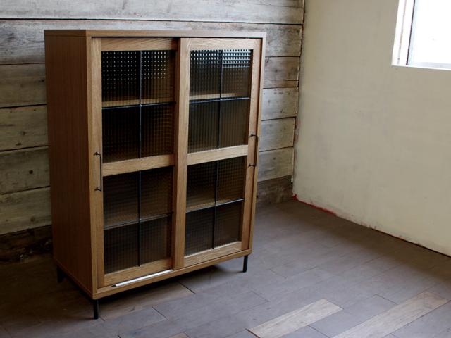 cadeal slide glass cabinet low カデルスライドガラスキャビネットロー a.depeche アデペシュ/キッチンボード/リビングボード
