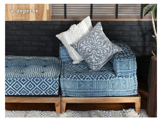 block multi sofa corner NOS blue ブロックマルチソファ ノスブルー a.depeche アデペシュ クッション