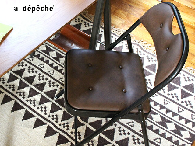 DIRECT chair ディレクトチェア PUレザー a.depeche アデペシュ 折りたたみ フォールディング おしゃれ