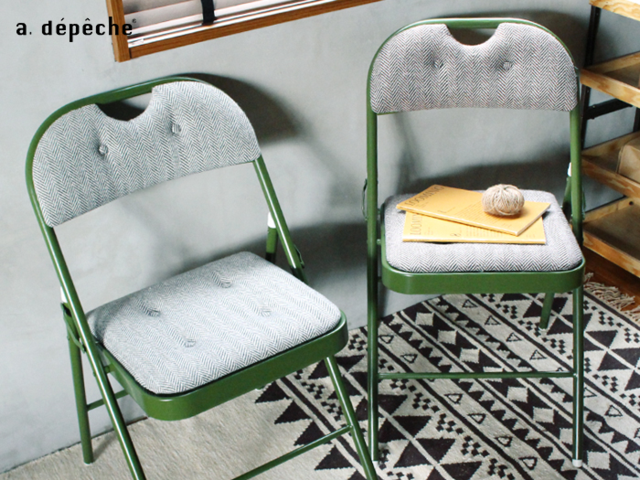 DIRECT chair ディレクトチェア ヘリンボーン a.depeche アデペシュ 折りたたみ フォールディング おしゃれ