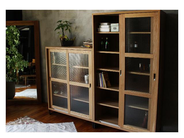 splem slide glass cabinet high スプレムスライドガラスキャビネットハイ a.depeche アデペシュ/キッチンボード/リビングボード