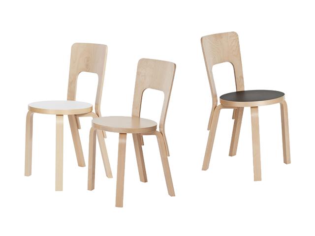 66チェア ALVAR AALTO 1935 artek アルテック リノリウム 椅子 小ぶり コンパクト