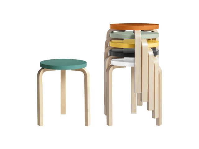 スツール60 ALVAR AALTO 1933 artek アルテック リノリウム 椅子 小ぶり コンパクト ロングライフデザイン賞