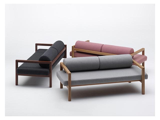 upright sofa アップライトソファ bellacontte ベラコンテ タイスデザイン ファブリック ホワイトオーク ウォールナット