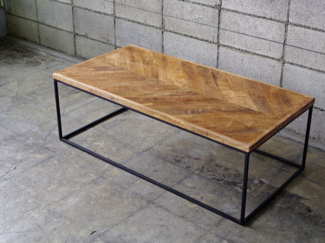 HERRINGBONE TABLE ヘリンボーンコーヒーテーブル LIFE FURNITURE ライフファニチャー