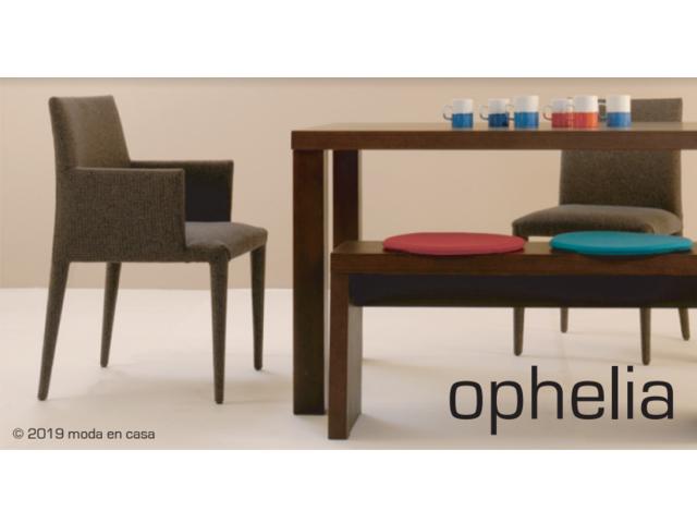 OPHELIA chair/arm chair オフェリアチェア アームチェア moda en casa モーダエンカーサ 椅子 ファブリック グレー