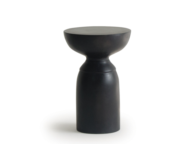 TOTEM table トーテムテーブル moda en casa モーダエンカーサ サイドテーブル ブラック コンクリート ラウンド