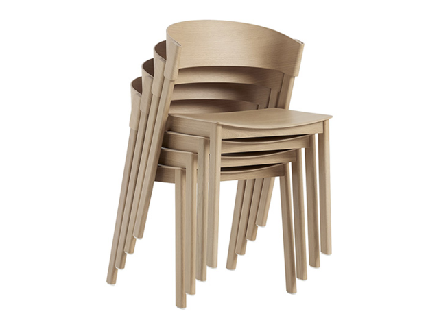 COVER SIDE CHAIR muuto ムート チェア 椅子 木製 板座