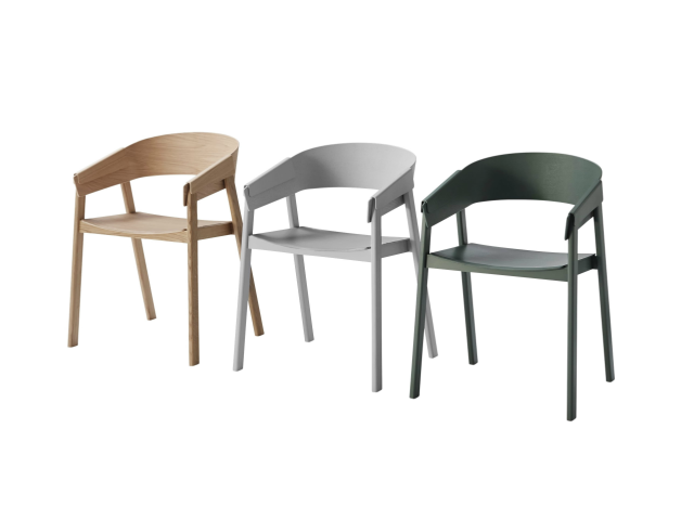COVER ARM CHAIR muuto ムート チェア 椅子 木製 板座