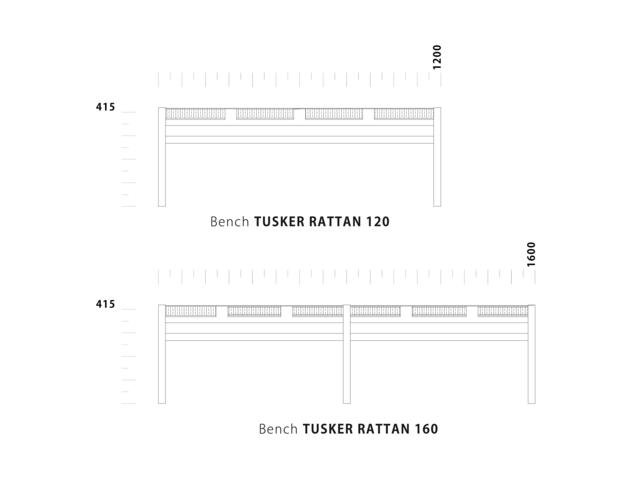 Bench TUSKER Lattan ダイニングベンチ タスカ― ラタン NOWHERE LIKE HOME ノーウェアライクホーム