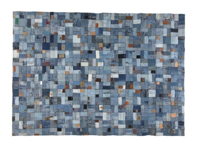 RUG KB-394 BLUE ラグ ブルー  200×140