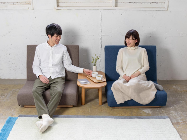 form low sofa 1seater フォームローソファ 1人掛け SIEVE シーブ 和室 肘無し