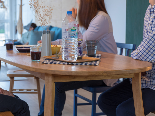 merge dining table round マージ ダイニングテーブルラウンド SIEVE シーブ 楕円