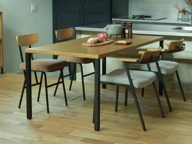 karia dining table S/L カーラ ダイニングテーブル SIEVE シーブ オーク スチール脚
