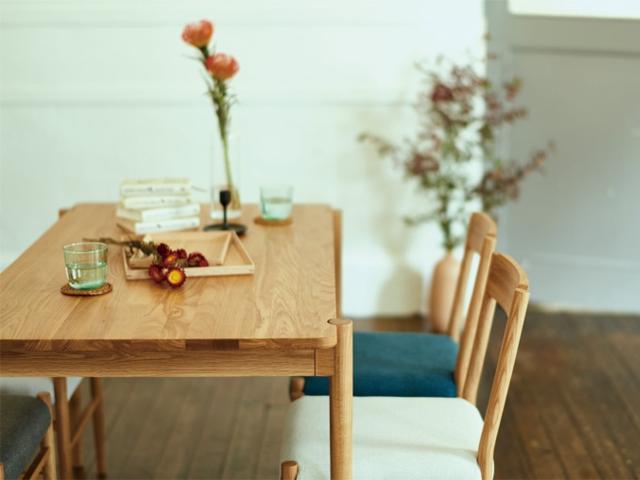 dent dining table M/L デント ダイニングテーブル SIEVE シーブ オーク 1600 1350
