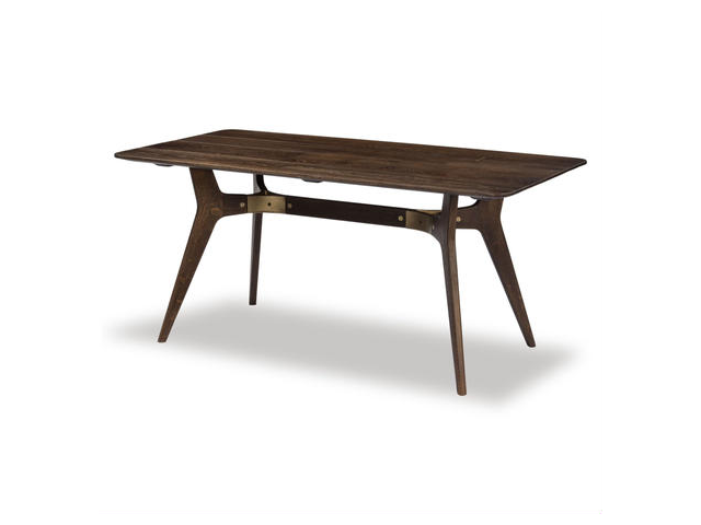KIRI DINING TABLE キリ ダイニングテーブル 1600 SQUARE ROOTS スクエアルーツ SEARED OAK BRONZE