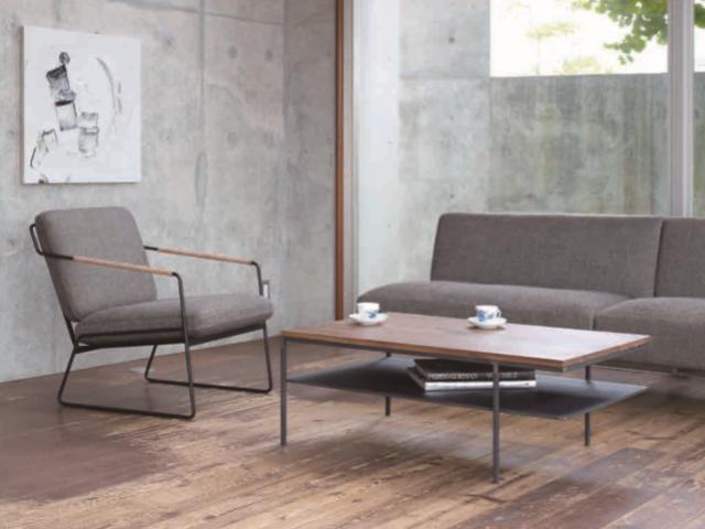 クロテツ SHIN リビングテーブル 900/1000 杉山製作所/ローテーブル アイアン