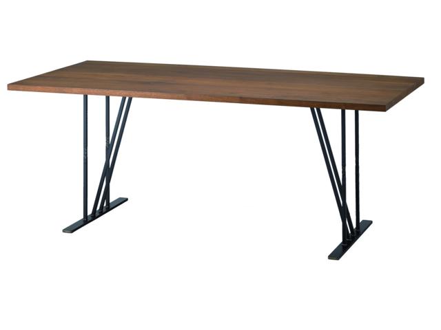 KADOダイニングテーブル H650/700 W1500~2000 クロテツ 杉山製作所/アイアン