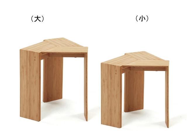 TRIANGLE STOOL 三角 スツール TEORI テオリ 竹 和 スタッキング