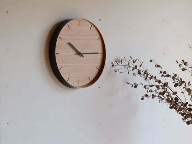 WALL CLOCK ウォールクロック TEORI テオリ 竹 和 時計 円形 ラウンド 壁掛け