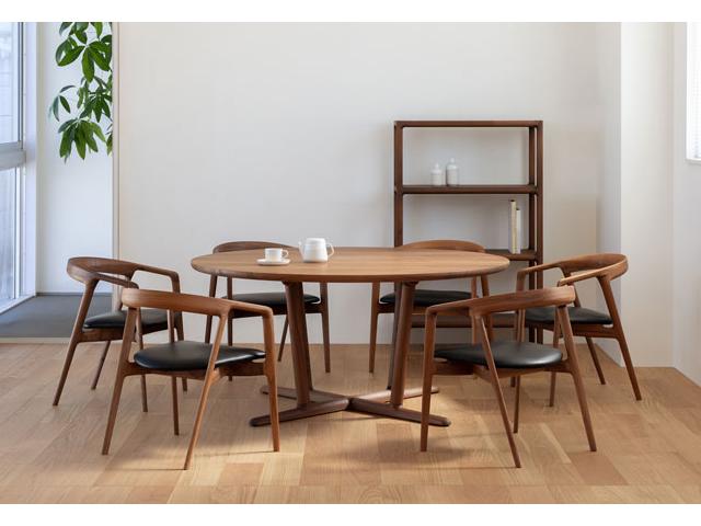 ダイニングテーブル ラウンド イストク 椅子徳製作所 山田佳一朗 木製 丸 セミオーダー