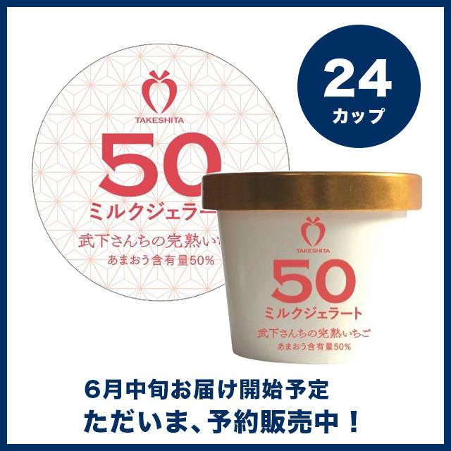【予約販売】苺一愛 あまおう50%ミルクジェラート 24カップセット