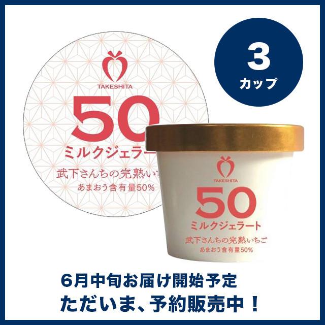 【予約販売】苺一愛 あまおう50%ミルクジェラート 3カップセット