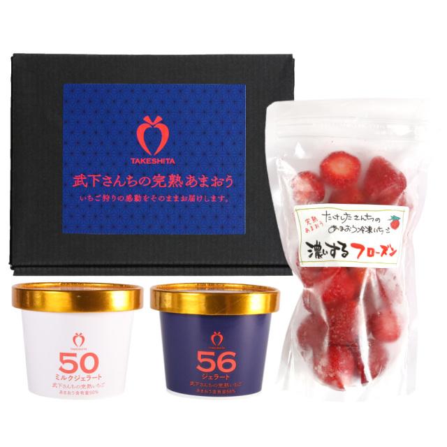 武下さんちのあまおう 夏のデザートセッ ト 送料無料 フローズン&ジェラートでオリジナルデザートを楽しめる!