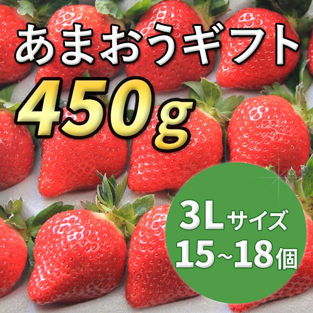 あまおうギフト 3Lサイズ 450g入り (12月から順次配送)