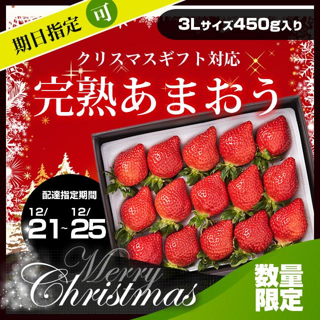 苺一愛 あまおう ギフト 3Lサイズ450g入り クリスマス 配達日時指定可能 (通信欄に要入力)