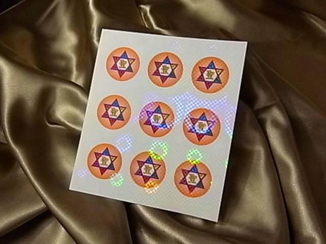 六芒星・聖ホログラムミニステッカー(5枚入り)