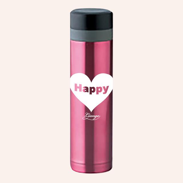リアンジュオリジナルステンレスマグボトル Happyピンク