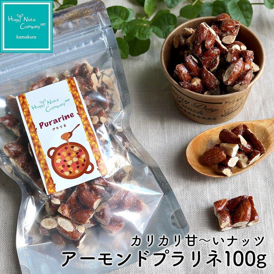 アーモンド プラリネ 100g ナッツ菓子 ナッツ ドライフルーツ ハッピーナッツカンパニー