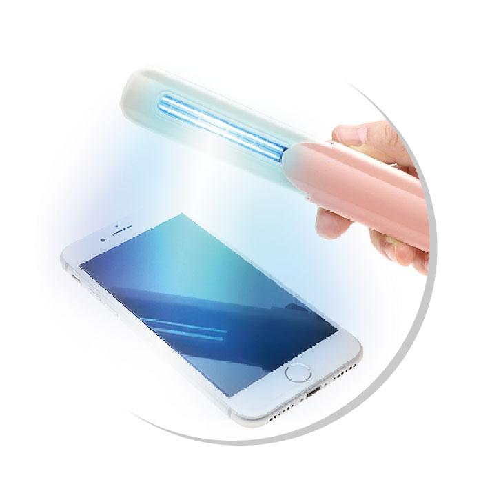 スライド式UV除菌ライト(UV-C)3本までメール便送料無料 スマホ除菌 キーボード 携帯用
