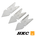 HKC 旋盤用センターゲージ (3個セット)