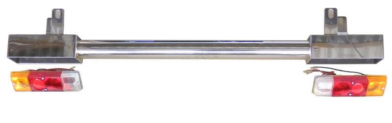 ジムニーJA12/22用 ステンレスリアバンパー(レンズ付)
