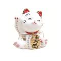 招き猫(ホワイト) 宝石箱・小物入れ