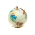 ピカルス天然石地球儀ペーパーウェイト パール