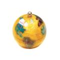 ピカルス天然石地球儀ペーパーウェイト 黄パール
