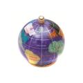 ピカルス天然石地球儀ペーパーウェイト 紫パール